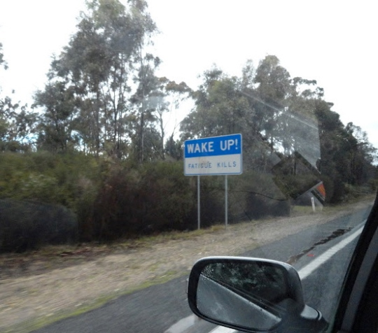 australia sign fatigue driving