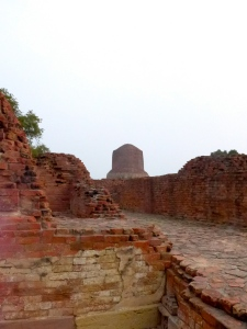 Pictured here is the Dhamek Stupa, at Sarnath.