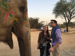 With our pal, the elephant!