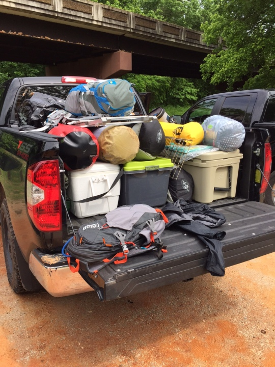 May - Canoe/camping trip (that involved a whole lot of tumps) in Arkansas.